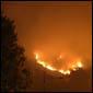 Mt Victoria on fire. Devonport, Auckland, NZ