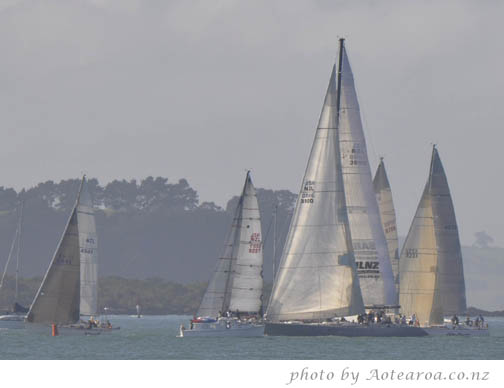 Auckland to Musket Cove yacht race. Lion New Zealand