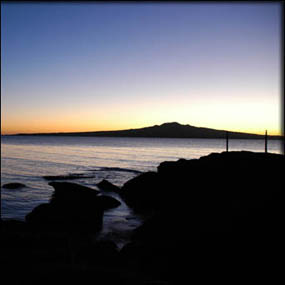 Rangitoto Island, photo taken from North Head, Devonport, Auckland, NZ